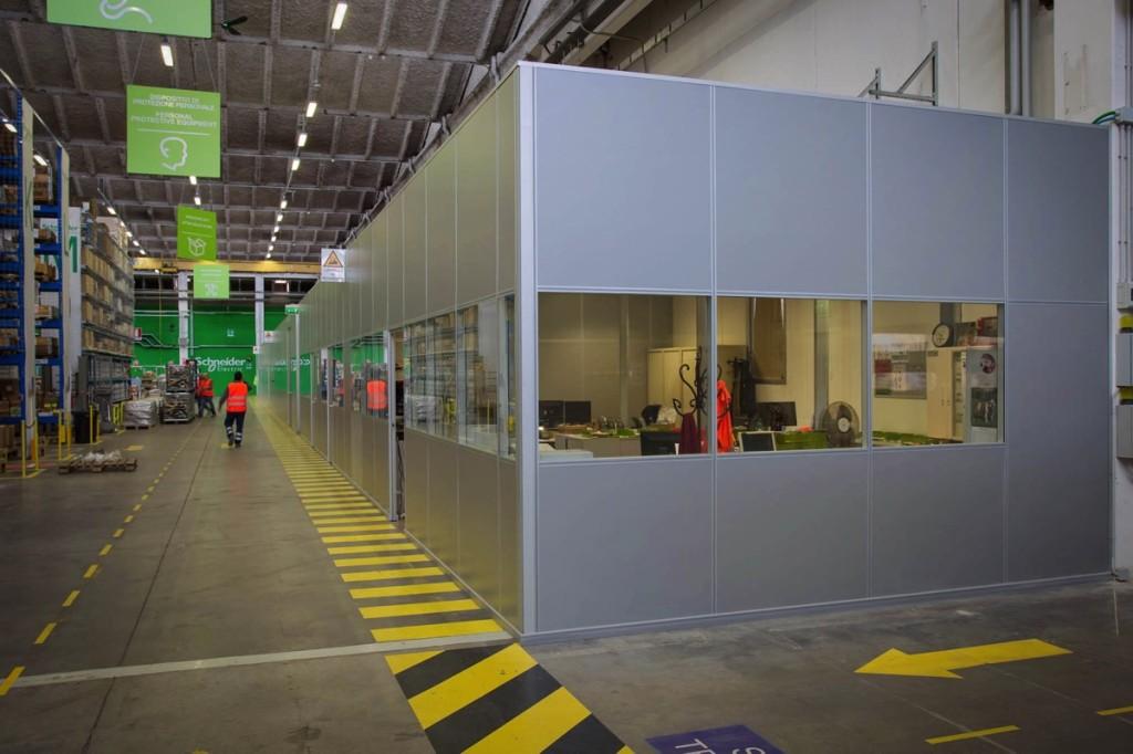 pareti divisorie operative Schneider Stezzano